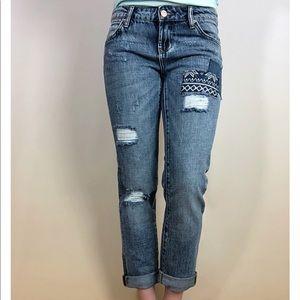 Girlfriend Patchwork Jeans by Dear John Denim
